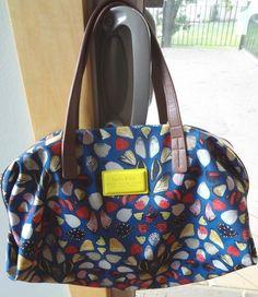 Bimba & Lola Multi Color Butterfly Wing Bag Purse Nylon & Leather