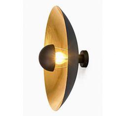 Applique Amani Dorée, métal noir et doré, diam. 56 cm. Laurie Lumières 195 €