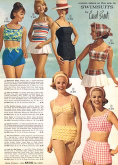 60's swimwear - still looks majorly cute, comfortable, and refreshingly modest.
