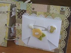 Chipboard mini albums - baby diaper pocket page