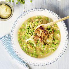 Erbsen-Linsen-Eintopf mit Tofuzwiebeln Rezept | Küchengötter