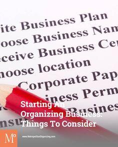 Starting Organizing Business: Understanding Time, Energy, Money Needed | Metropolitan Organizing ®, LLC