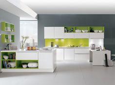 Aviva cuisine renata blanc vert