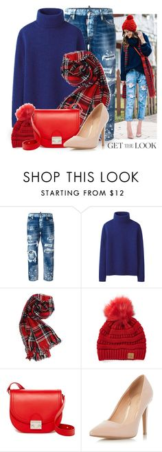 """""""Get the Look: Winter Style 3009"""" by boxthoughts ❤ liked on Polyvore featuring Dsquared2, Uniqlo, C.C Cheveux, Loeffler Randall, Dorothy Perkins and GetTheLook"""