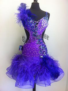 A Beautiful Ballroom Dance. This is a brand new tailor made ballroom competition dress it is a professional dance dress which made by high quality Lycra and Chiffon material.