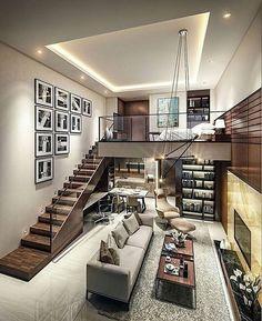 Trendy Home Design Loft Interiors Loft Design, Tiny House Design, Modern House Design, Luxury Loft, Modern Luxury, Luxury Homes, Loft Interiors, Design Interiors, Modern Interiors