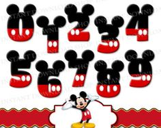 mickey mouse numbers template printables