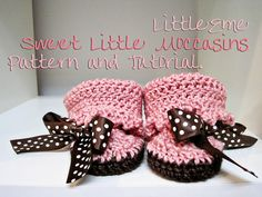 Sweet Little Baby Moccasins Pattern and Tutorial #baby #booties