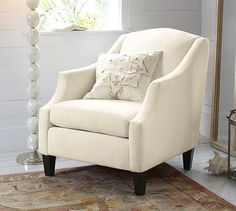 Bradshaw Armchair #potterybarn  http://www.potterybarn.com/products/bradshaw-upholstered-armchair/?pkey=coccasional-chairs