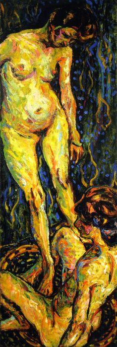 Nude Group II Ernst Ludwig Kirchner - 1907-1908