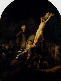 Rembrandt The Elevation Of The Cross art painting for sale; Shop your favorite Rembrandt The Elevation Of The Cross painting on canvas or frame at discount price. Leiden, Caravaggio, La Passion Du Christ, List Of Paintings, Rembrandt Paintings, Rembrandt Portrait, Amsterdam, Art Occidental, Dutch Golden Age