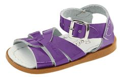 saltwater sandals, shiny purple for Vi