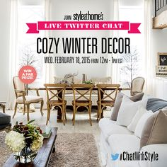 Join Style at Home's live Twitter chat: Cozy winter decor
