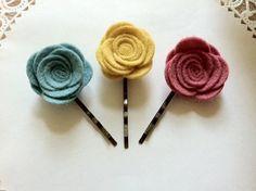 Wool Felt Flower Hair Pin Felt Flower Hair Pin by Thelittlecute, $12.00