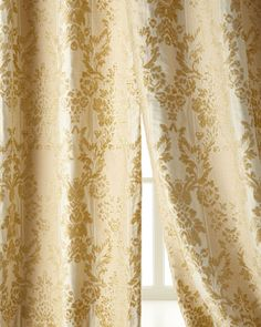 "Two 50""W x 96""L Antoinette Curtains by Austin Horn Classics at Neiman Marcus."
