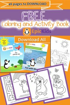 FREE coloring pages to download from EpicKids. Summer Activities For Kids, Book Activities, Free Coloring Pages, Coloring Books, Outdoor Fun For Kids, Children's Literature, Kids Online, Kid Spaces, Phonics