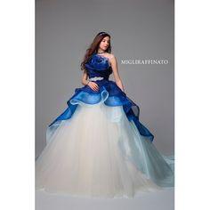 ブライダルサロンこなか《MIGLIRAFFINATO》青と白のコントラストが透明感と爽やかさを演出☆ ウエディングドレスを探す ゼクシィ