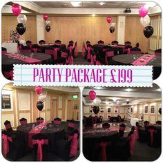 21st birthday party decor