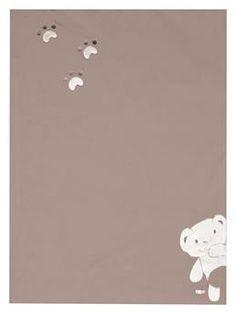 Housse de couette Ourson en micorfibre taupe 100 x 140 cm
