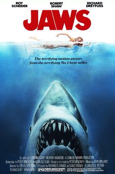 Jaws (1975) Spielberg on fire. His best film. This nautical nerve shredder is the still the first & last word on the summer blockbuster.