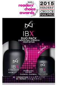 IBX - New & Revolutionary two-part system that acts as a Protective Shield for the natural nail under any Gel Polish Coating and can also be used as a Natural Nail Strengthening System to grow natural nails more readily on their own!