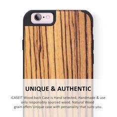iCASEIT Premium iPhone 6s / 6 Wood Case
