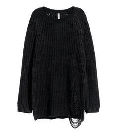 Pullover in Rippenstrick | Schwarz | Damen | H&M DE