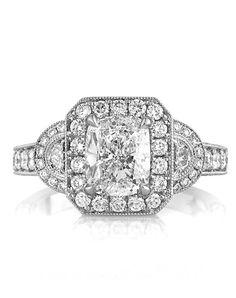 3.10ct Cushion Cut Diamond Engagement Ring