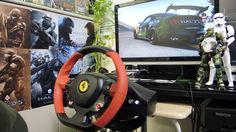 [30] Xbox One Forza 6  Thrustmaster Ferrari 458 Spider Racing Wheel Game...