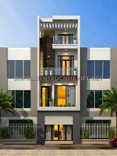 Mẫu thiết kế nhà phố 3 tầng đẹp. http://www.kientrucnhaviet.net