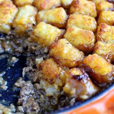 Skillet Tater Tot Casserole (No Condensed Soup!) Chicken And Wild Rice, Wild Rice Soup, Homemade Seasoning Salt, Chicken Seasoning, Cheesy Broccoli Rice, Italian Recipes, Italian Foods, Loaded Potato Soup, Creamy Rice