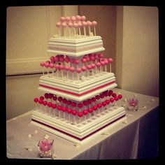 3 TIER/ 181 Cake Pop Stand i need these lol or 2 Cake Pop Holder, Cake Pop Stands, Cookie Pops, Baking Supplies, Get The Party Started, Food Items, Dessert Table, Beautiful Cakes, How To Make Cake
