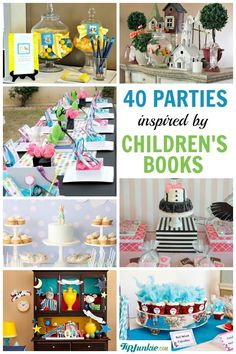 40 Popular Childrens Book Birthday Parties!  via Sue Warren