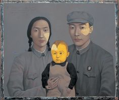 China's Worst Policy Mistake?  Zhang Xiaogang: Family No. 2, 1993; from the book Zhang Xiaogang: Disquieting Memories, by Jonathan Fineberg and Gary G. Xu, published last year by Phaidon