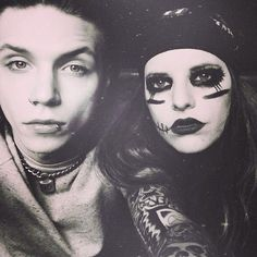Andy and Juliet. first i was confused i was like NO WAIT.... wat is this. she has his makeup.