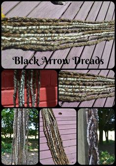 wrapped synthetic dreads here at black arrow dreads #blackarrowdreads