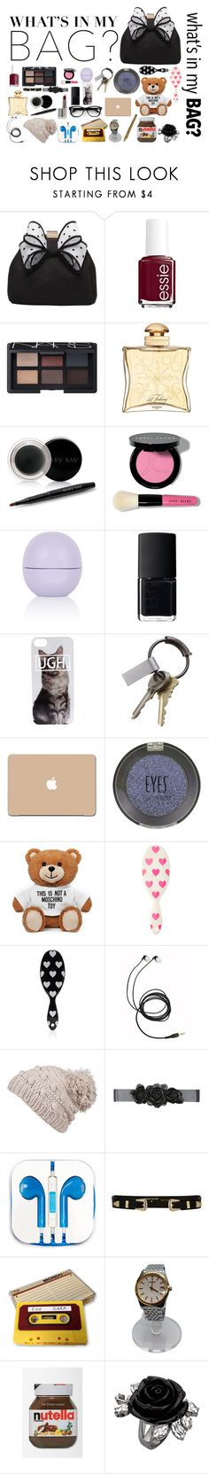 """""""wath¨s in my bag"""" by teresapulido ❤ liked on Polyvore featuring Miss KG, Essie, NARS Cosmetics, Hermès, Mary Kay, Bobbi Brown Cosmetics, Topshop, CB2, Moschino and Forever 21"""