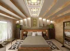 Art-deco bedroom design