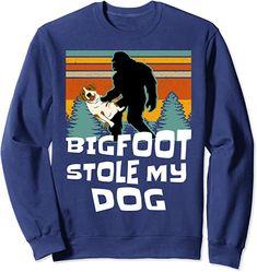 Amazon.com: Bigfoot Stole My Dog Funny Sasquatch Yeti Yowi Retro Vibe Sweatshirt : Clothing, Shoes & Jewelry
