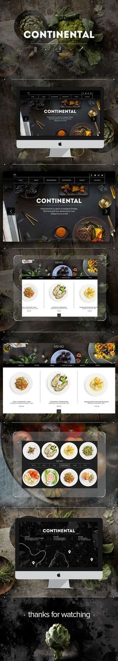 Web site for Continental restaurant: