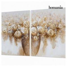 SET OF 2 OIL PAINTINGS BY HOMANIA - Bledoncy