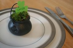 St. Patrick's Day clover place cards