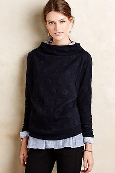 Dotted Funnelneck Pullover #anthropologie