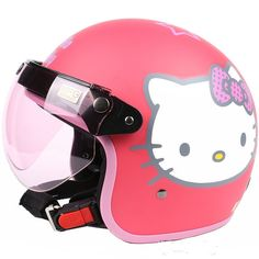 61.75$  Buy here - http://aliv31.worldwells.pw/go.php?t=1449731350 - Free shipping!Fashion Halley EVO half helmet,electric bicycle Open face helmets,Hello Kitty,Women's Motorcycle winter helmet,Red 61.75$