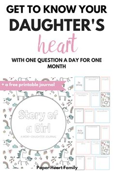 This printable mother daughter journal will provide the perfect way for you to get to know your daughter better. It's also an amazing, adorable keepsake that will document this fleeting time in your daughter's life. Make using these questions to ask your Daughter Quotes, To My Daughter, Mother Daughters, Mommy Daughter Dates, Teenage Daughters, Cousin Quotes, Mother Son, Child Quotes, Parenting Advice