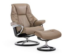 Relaxsessel stressless  Stressless Peace Recliner in Paloma Leather (color: Sparrow Blue ...