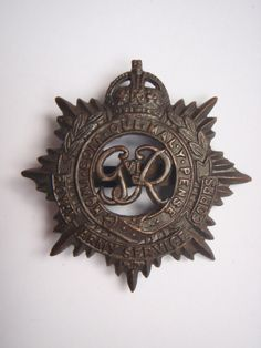WW2 Royal Army Service Corps Officers Service Dress Cap Badge