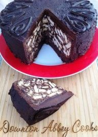 Chocolate Biscuit Cake: No baking required. Prince William's favorite cake, served at his wedding as the Groom's Cake......another win for downton abbey. need to make this asap