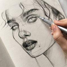 Sketches of people, art sketches, realistic drawings, my drawings, pencil d Pencil Art Drawings, Realistic Drawings, Art Drawings Sketches, Cool Drawings, Drawing Faces, Sketch Art, Art Du Croquis, Beautiful Drawings, Art Sketchbook
