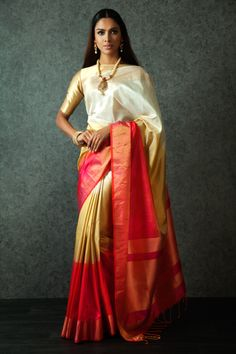 Buy Multi Colored Silk Neemzari work Saree online in India at best price.Benzerworld presents latest designer Indian wedding attire for men and women,elegant bridal outfits,exquisite Handloom Saree, Silk Sarees, Anarkali Lehenga, Saris, Beautiful Saree, Beautiful Outfits, Indian Dresses, Indian Outfits, Indische Sarees